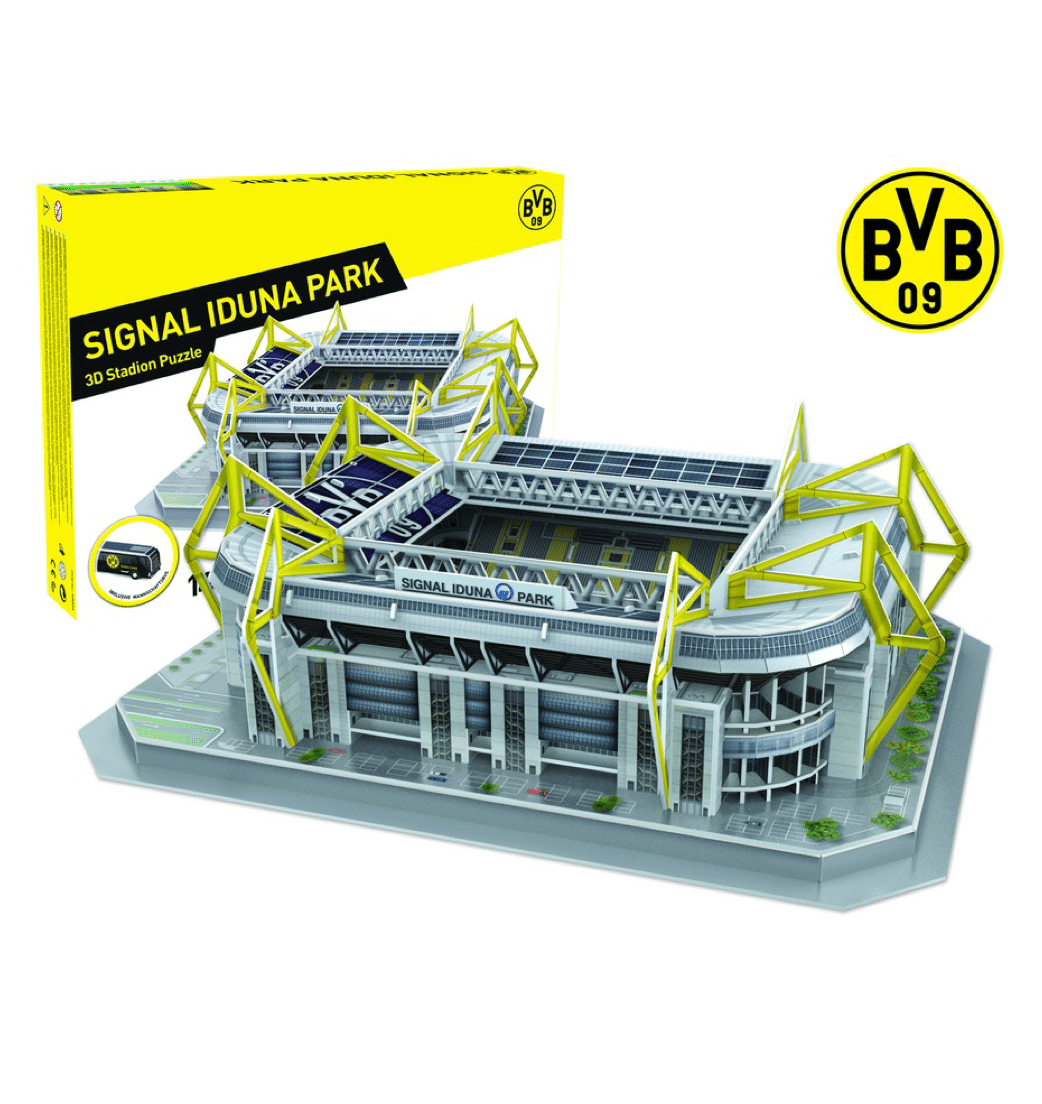 dortmund signal iduna park stadion 3d puzzel football store. Black Bedroom Furniture Sets. Home Design Ideas