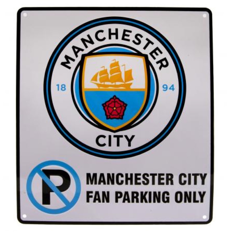 Manchester City No Parking Sign Football Store