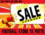 Easter Sale in Football Store Putte